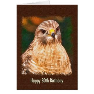 第80誕生日、赤背負われたタカ カード