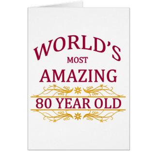 第80。 誕生日 カード