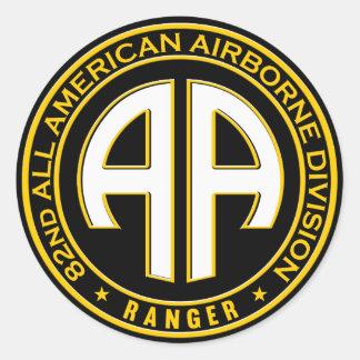 第82すべてのアメリカの空輸のレーンジャーカジュアルなパッチ ラウンドシール