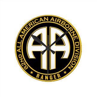 第82すべてのアメリカの空輸のレーンジャーカジュアルなパッチ ラウンド壁時計