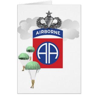 第82の落下傘兵、年長のジャンプの翼空輸 グリーティングカード