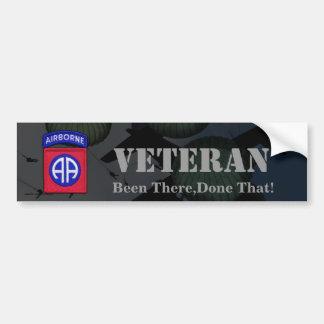第82空挺師団の退役軍人のバンパーステッカー バンパーステッカー
