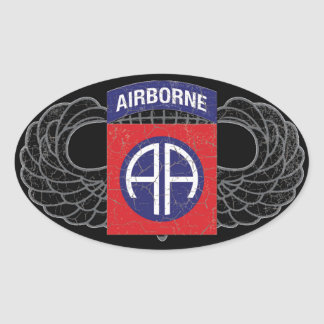 """第82空挺師団の""""すべてにアメリカの"""" -素朴 楕円形シール"""