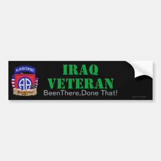 第82空挺師団イラクはバンパーステッカーを診察します バンパーステッカー
