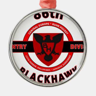 """第86歩兵部隊""""BLACKHAWK""""部 メタルオーナメント"""