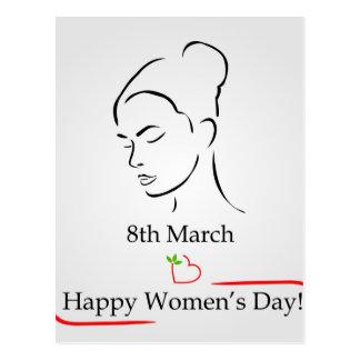 第8 3月の女性の日の挨拶 ポストカード