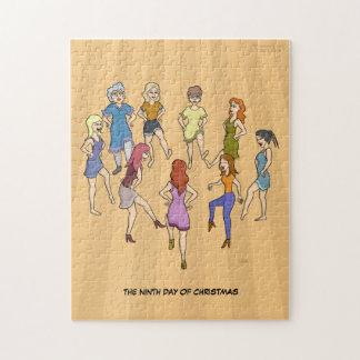 第9クリスマス(9人の女性)のジグソーパズルの日 ジグソーパズル