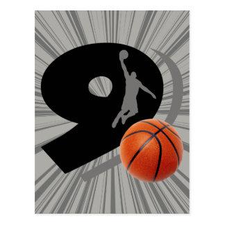 第9バスケットボールおよびプレーヤー ポストカード