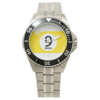 第9プール/ビリヤードボール 腕時計