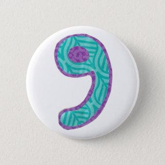第9ボタン 5.7CM 丸型バッジ