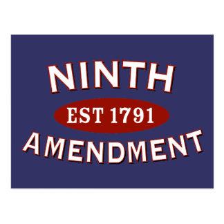 第9修正米国東部標準時刻1791年 ポストカード