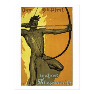 第9矢、オーストリア人のアールヌーボーの第1次世界大戦 ポストカード