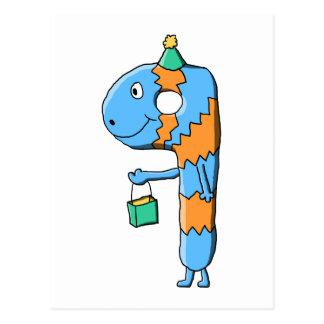 第9誕生日の漫画モンスター ポストカード