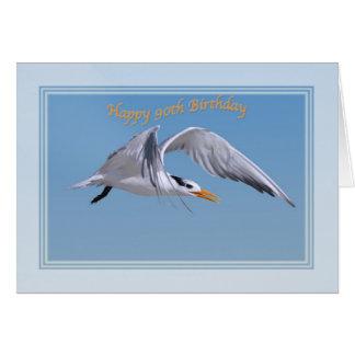 第90王室のなアジサシの鳥が付いているバースデー・カード カード