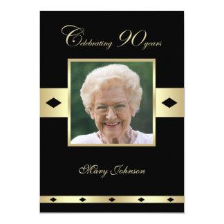第90誕生日のパーティの招待状の写真第90 カード