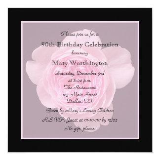 第90誕生日のパーティの招待状は第90のために上がりました カード