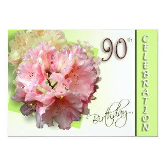 第90誕生日のパーティの招待状-シャクナゲ カード