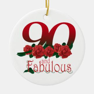 第90誕生日の花 セラミックオーナメント