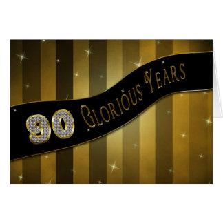 第90誕生日-見事な年 グリーティングカード