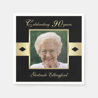 第90黒の誕生会の写真 スタンダードカクテルナプキン
