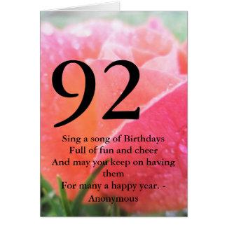 第92誕生日 カード