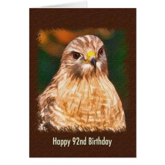 第92誕生日、赤背負われたタカ カード
