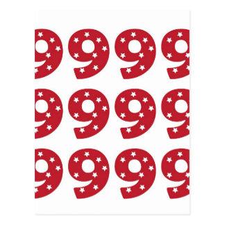 第9 -えんじ色の白い星 ポストカード