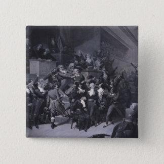 第9 Thermidor、c.1840 5.1cm 正方形バッジ