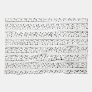 筆記体のユニコーン キッチンタオル