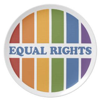 等しい権利のプレート プレート