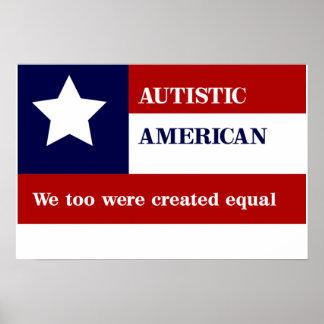 等しい自閉症のアメリカポスター プリント