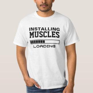 筋肉おもしろいなギーク Tシャツ