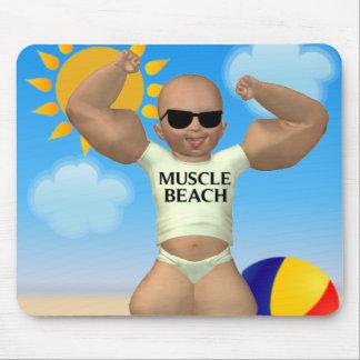 筋肉ビーチのベビーのマウスパッド マウスパッド
