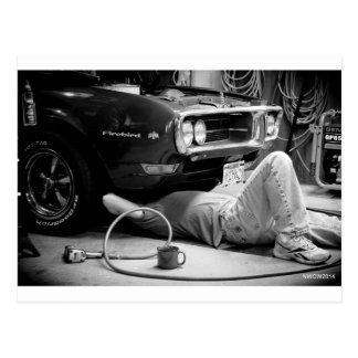 筋肉車の修理! ポストカード