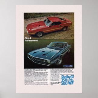 筋肉車のShelbyの広告 ポスター