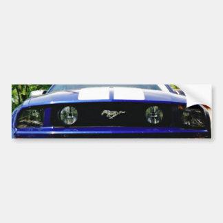 筋肉車青いバンパーステッカー バンパーステッカー