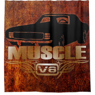 筋肉車V8 シャワーカーテン