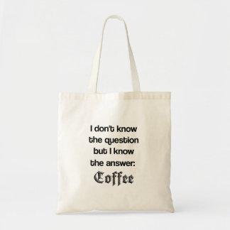 答えはコーヒートートです トートバッグ