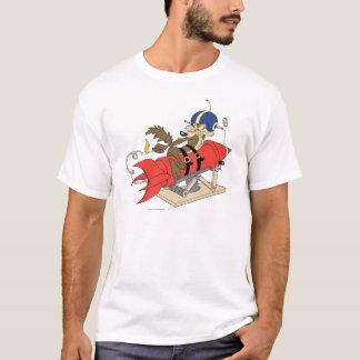 策略のE. Coyote Launchingの赤ロケット Tシャツ