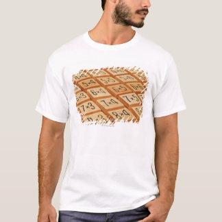 算術。 乗法は木テーブルを時間を計ります Tシャツ