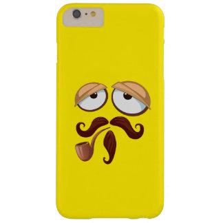 管および髭を搭載する黄色いスマイリーフェイス BARELY THERE iPhone 6 PLUS ケース