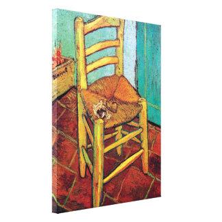 管が付いているフィンセント・ファン・ゴッホ-ヴィンチェンツォの椅子 キャンバスプリント