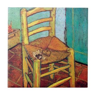 管が付いているフィンセント・ファン・ゴッホ-ヴィンチェンツォの椅子 タイル
