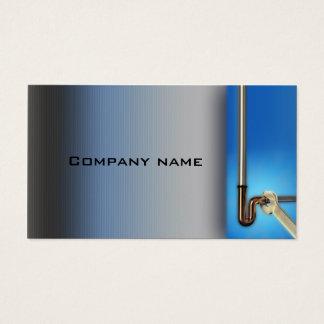 管の修理サービスの鉛管工の青い名刺 名刺