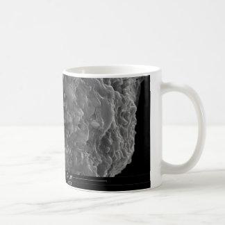 管の横断面の眺めの上の終わり コーヒーマグカップ