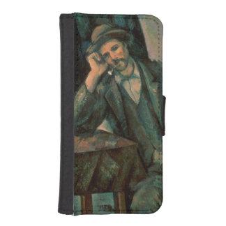 管を煙らしている人 iPhoneSE/5/5sウォレットケース