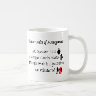管理の4つの規則 コーヒーマグカップ