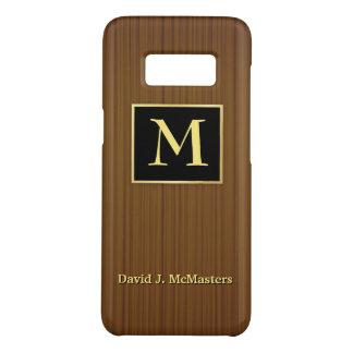 管理のWoodgrainのモノグラムのブラックベリーの箱 Case-Mate Samsung Galaxy S8ケース