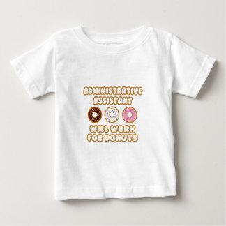 管理上のAsst。 ドーナツのために働きます ベビーTシャツ
