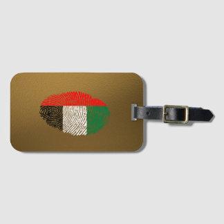 管轄区域のtouchの指紋の旗 ラゲッジタグ